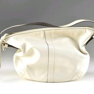 Coach Soho Off- White Leather Hobo Shoulder Bag